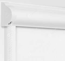 Рулонные кассетные шторы УНИ - Респект блэкаут белый