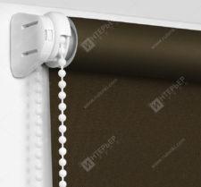 Рулонные шторы Мини - Респект блэкаут коричневый