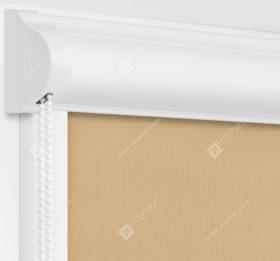 Рулонные кассетные шторы УНИ - Респект блэкаут песочный
