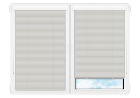 Жалюзи Изолайт 25 мм на пластиковые окна - цвет светло-серый