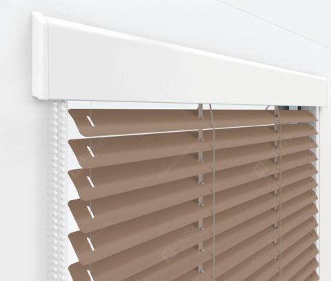 Жалюзи Изолайт 25 мм на пластиковые окна - цвет серо-бежевый