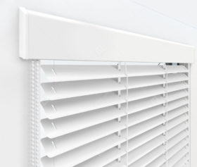 Жалюзи Изолайт 25 мм на пластиковые окна - цвет белый