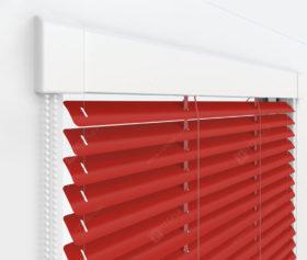 Жалюзи Изотра 25 мм на пластиковые окна - цвет транспортно-красный
