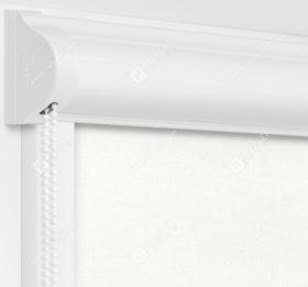 Рулонные кассетные шторы УНИ - Карина блэкаут белый
