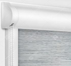 Рулонные кассетные шторы УНИ - Корсо блэкаут светло-серый